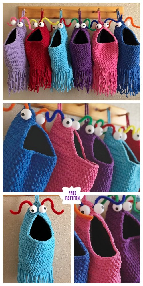 Crochet yip yip bag holder