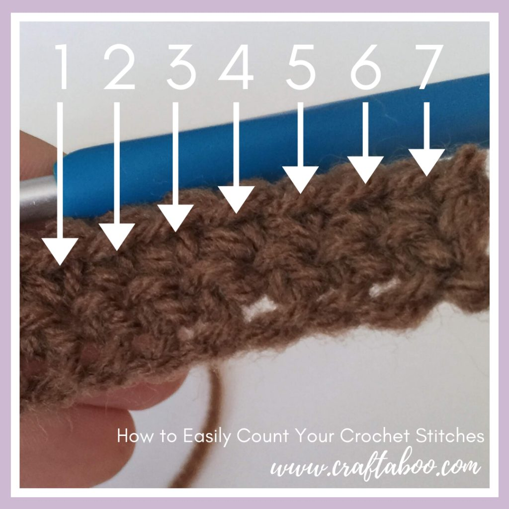 How to Easily Count Your Crochet Stitches - www.craftaboo.com