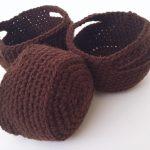Crochet Nesting Baskets - www.craftaboo.com