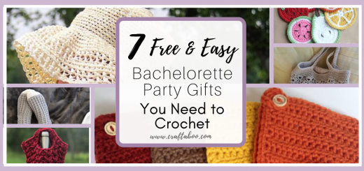 9 Free & Easy Bachelorette Party Gifts You Need to Crochet - www.craftaboo.com