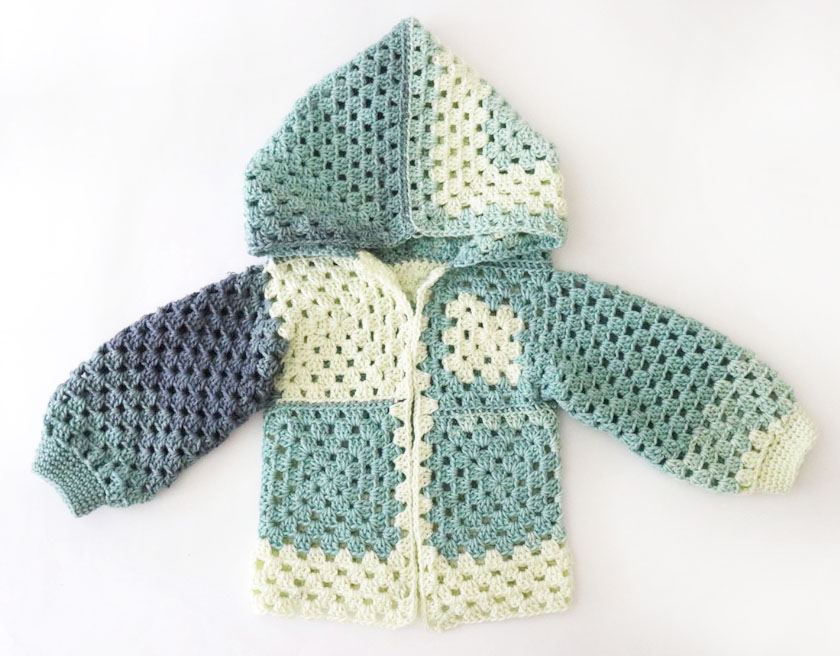 Granny square pattern jacket - www.craftaboo.com