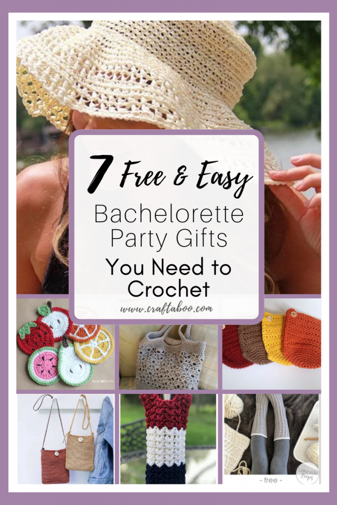 7 Free & Easy Bachelorette Party Gifts You Need to Crochet - www.craftaboo.com