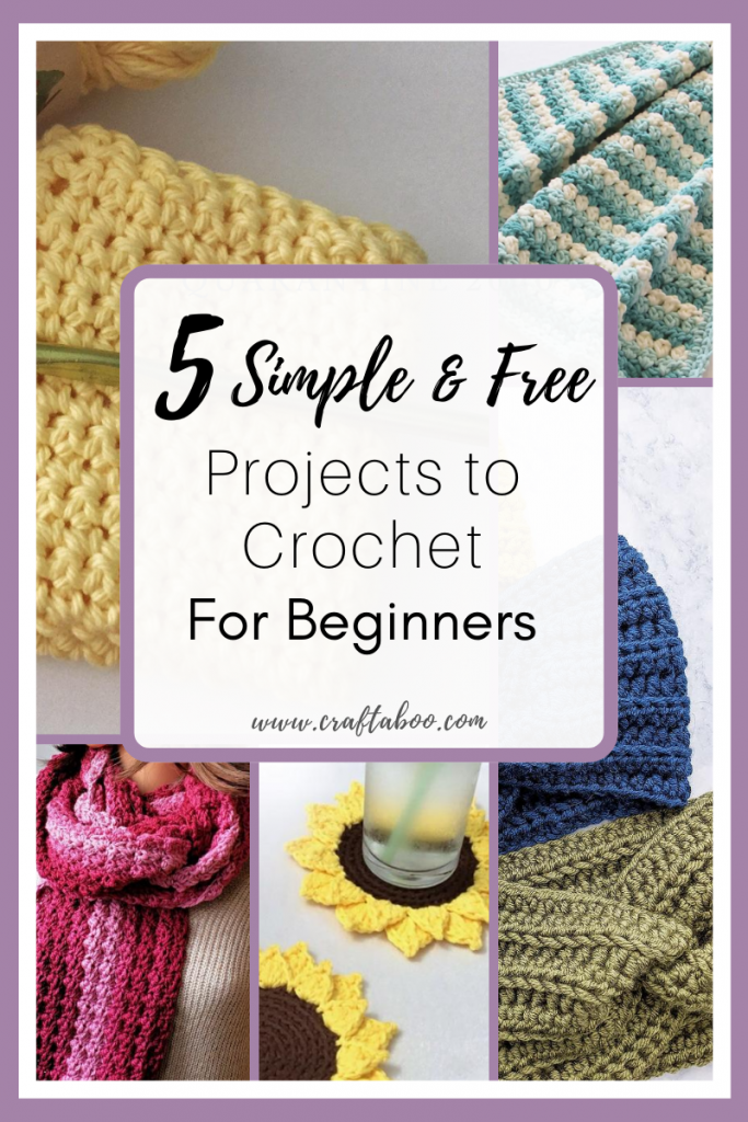 5 Simple & Free Projects to Crochet for Beginners - www.craftaboo.com